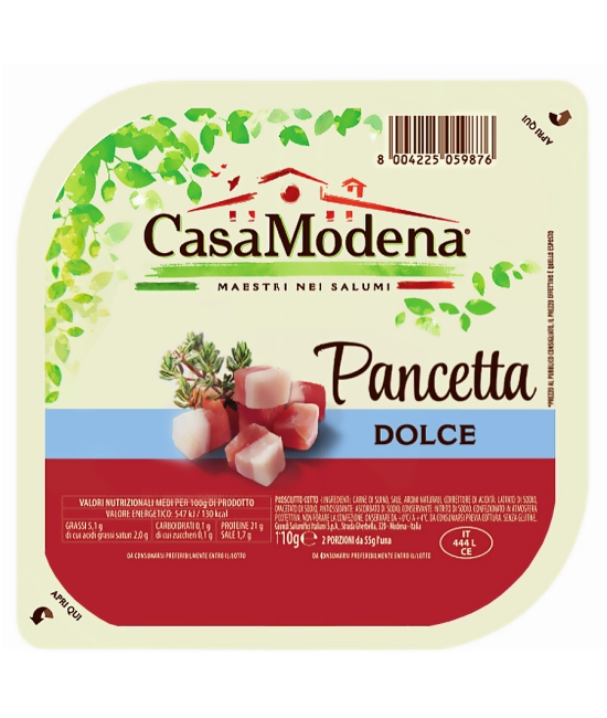 Pancetta dolce cubettata 110g
