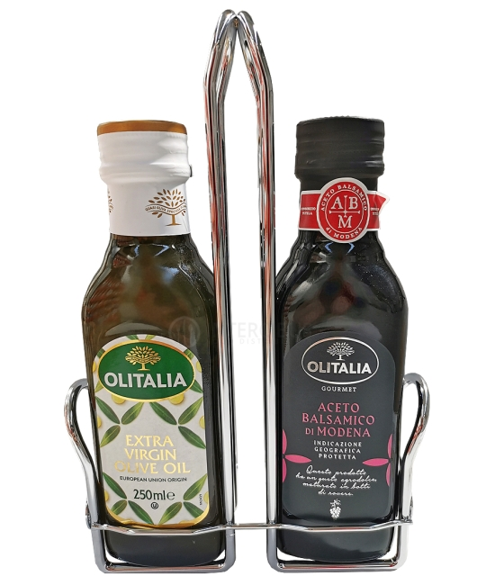 Olio di oliva Extra vergine + Aceto balsamico 2x250ml