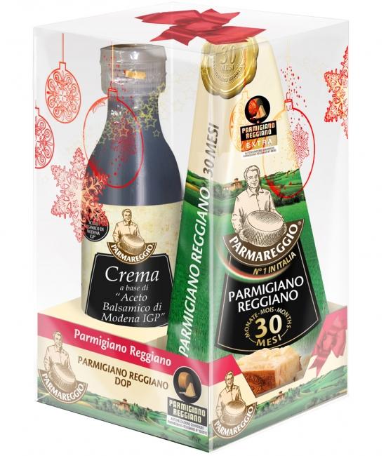 Parmigiano Reggiano 30 mesačný 250g + Crema di Aceto balsamico