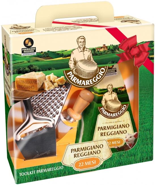 Parmigiano Reggiano 22 mesačný 500g + strúhadlo, nožík a škrabka