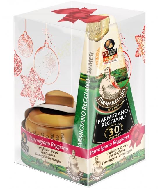Parmigiano Reggiano 30 mesačný 250g + nádoba na syr