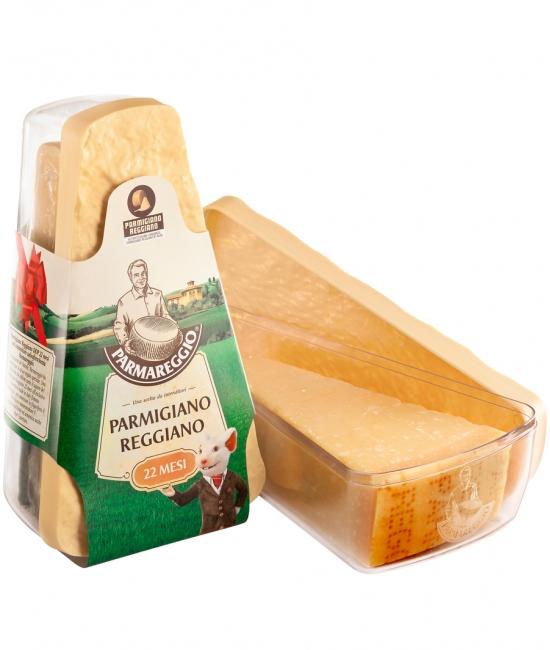 Parmigiano Reggiano 22 mesačný 500g + nádoba na syr