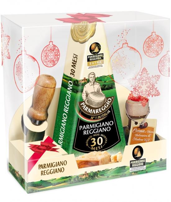 Parmigiano Reggiano 30 mesačný 250g + nožík a Crema di Aceto balsamico