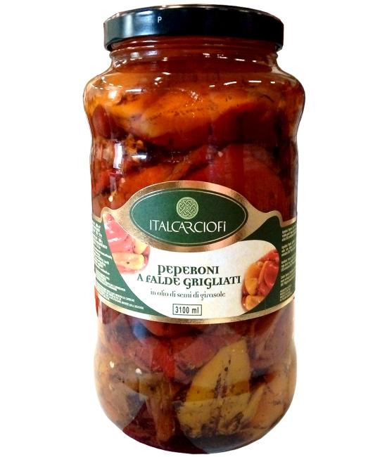 Peperoni a falde grigliati in olio 3,1kg