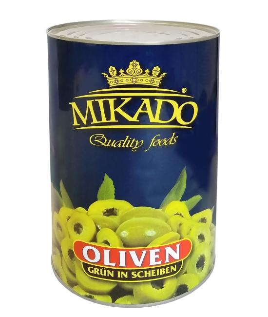 Olivy zelené, plátky 4250g