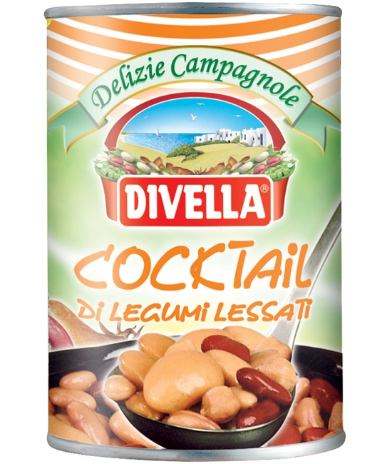 Cocktail di Legumi Lessati 400g DIVELLA