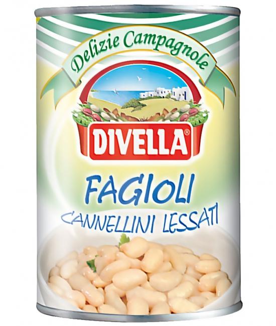 Fagioli Cannellini Lessati 400g DIVELLA