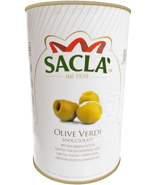 Olive verdi denociolate 3,9kg - olivy zelené bez kôstky SACLA