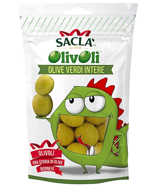 Olivy zelené celé 185g