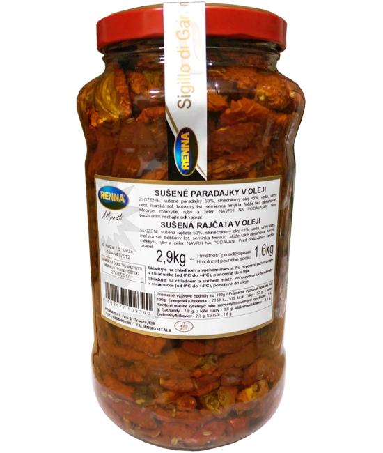 Pomodori secchi - sušené paradajky v oleji 2,9kg
